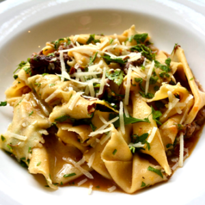 Pappardelle with oxtail sauce